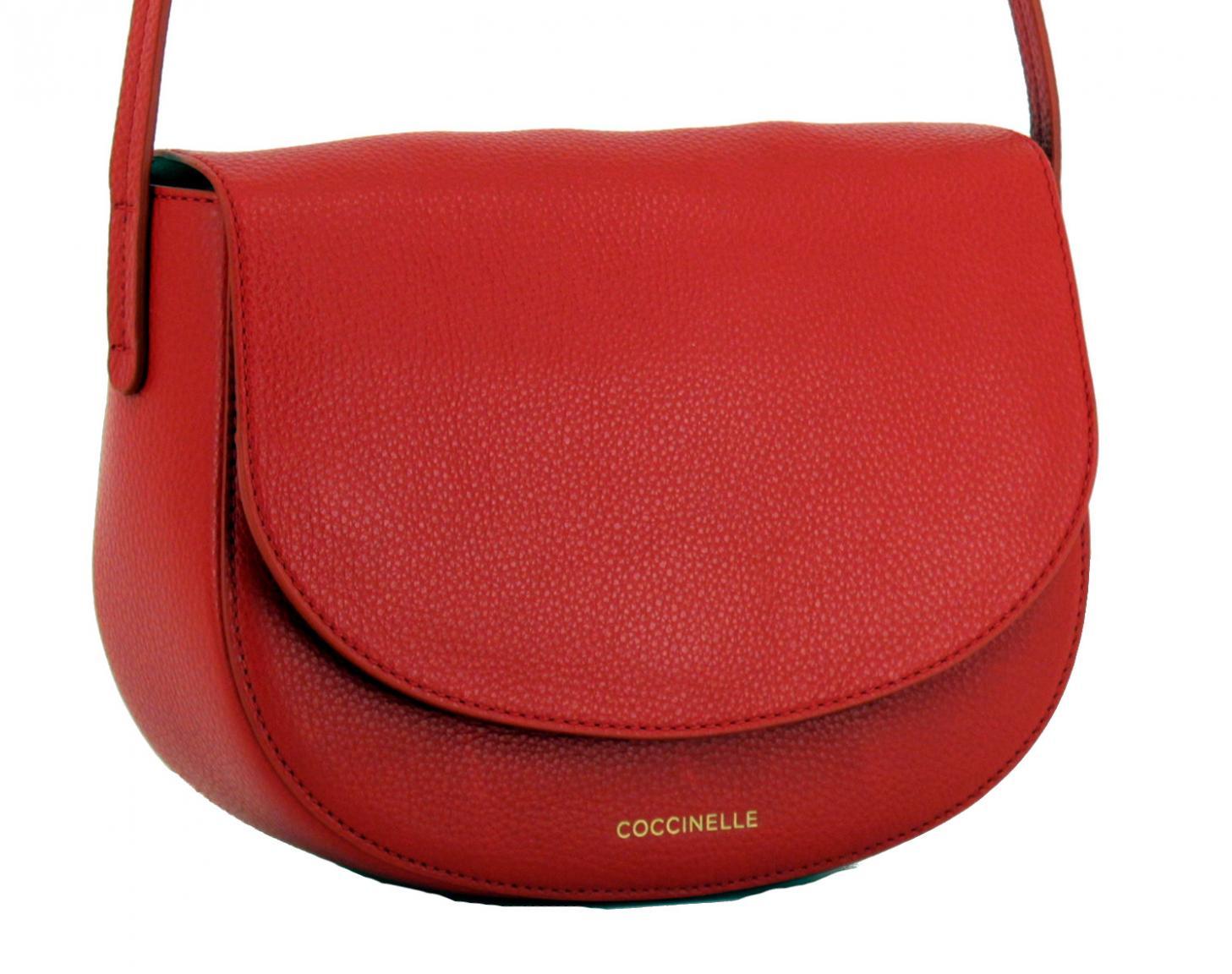 7286f2c4167e4 Coccinelle Umhängetasche Dione rot Überschlag Coquelicot - Bags   more