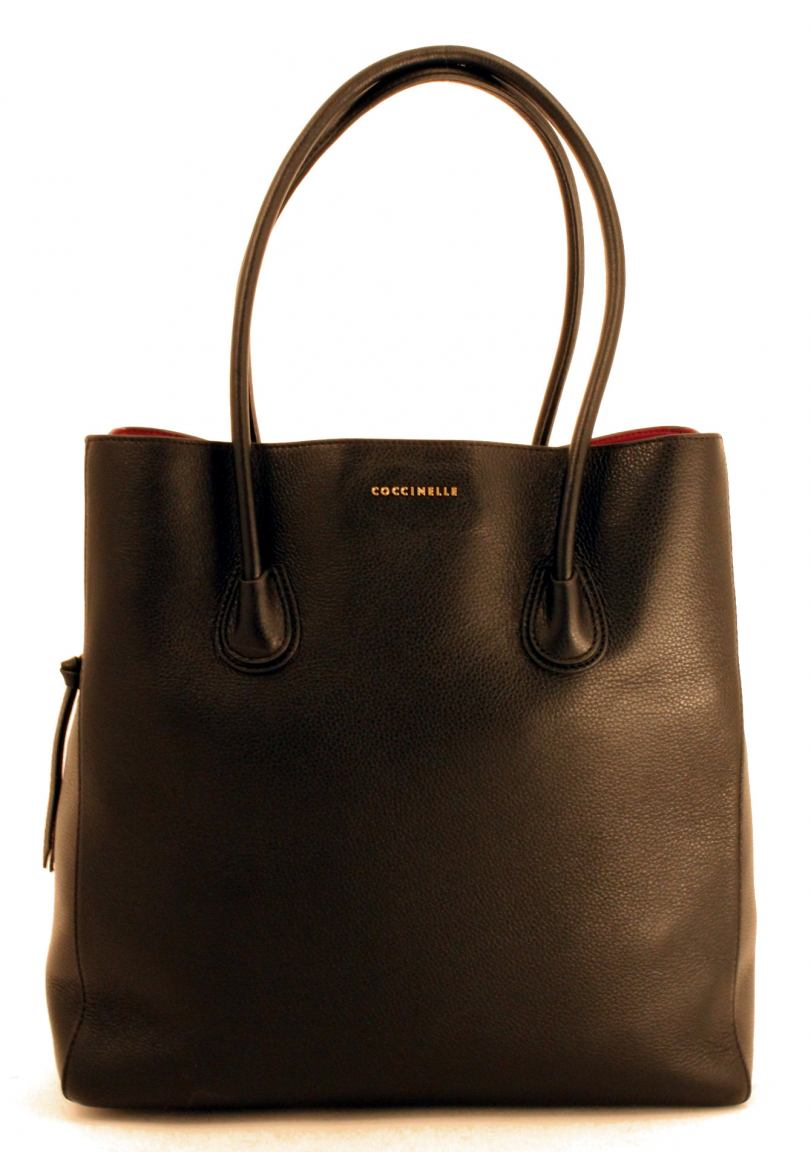 Coccinelle Celly Handtasche Leder XL Flieder