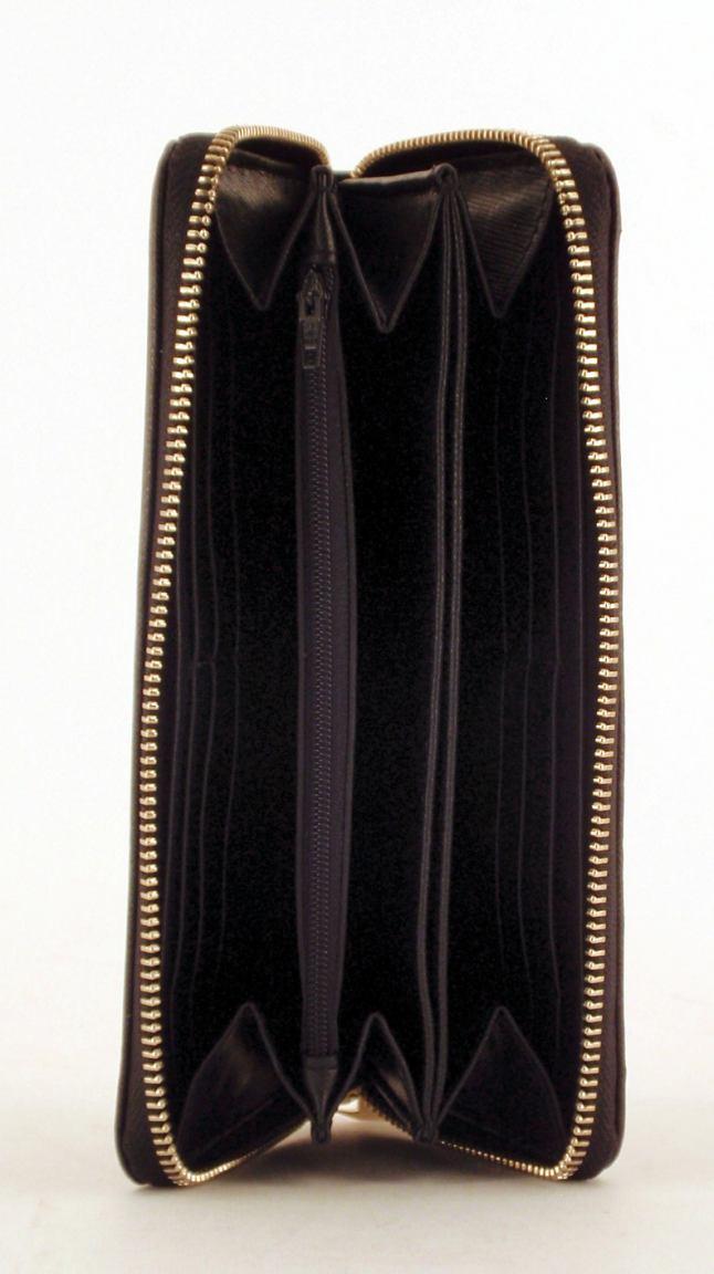 Coccinelle Geldbörse Leder nero schwarz