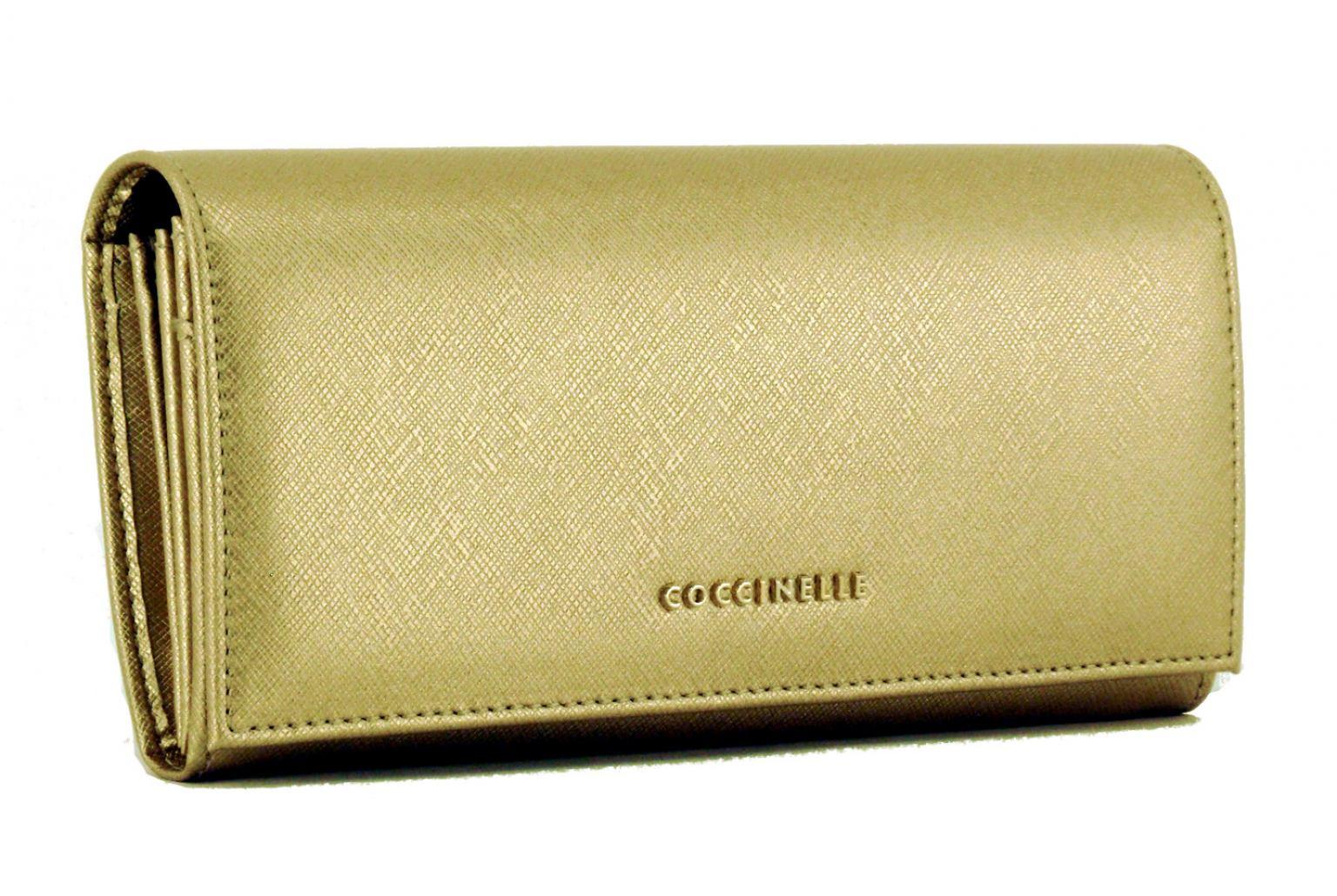 Coccinelle Geldtasche Saffiano gold (new platin)