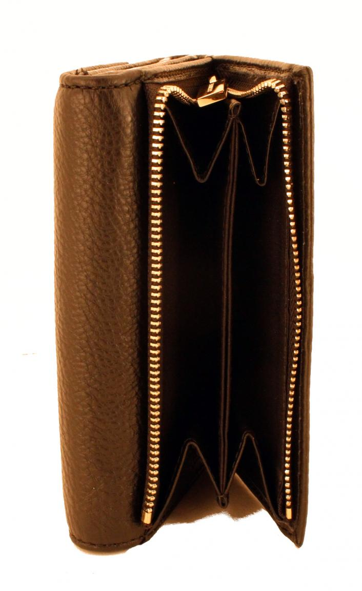 Coccinelle Portmonee Metallic Soft Vitello cuir hellbraun