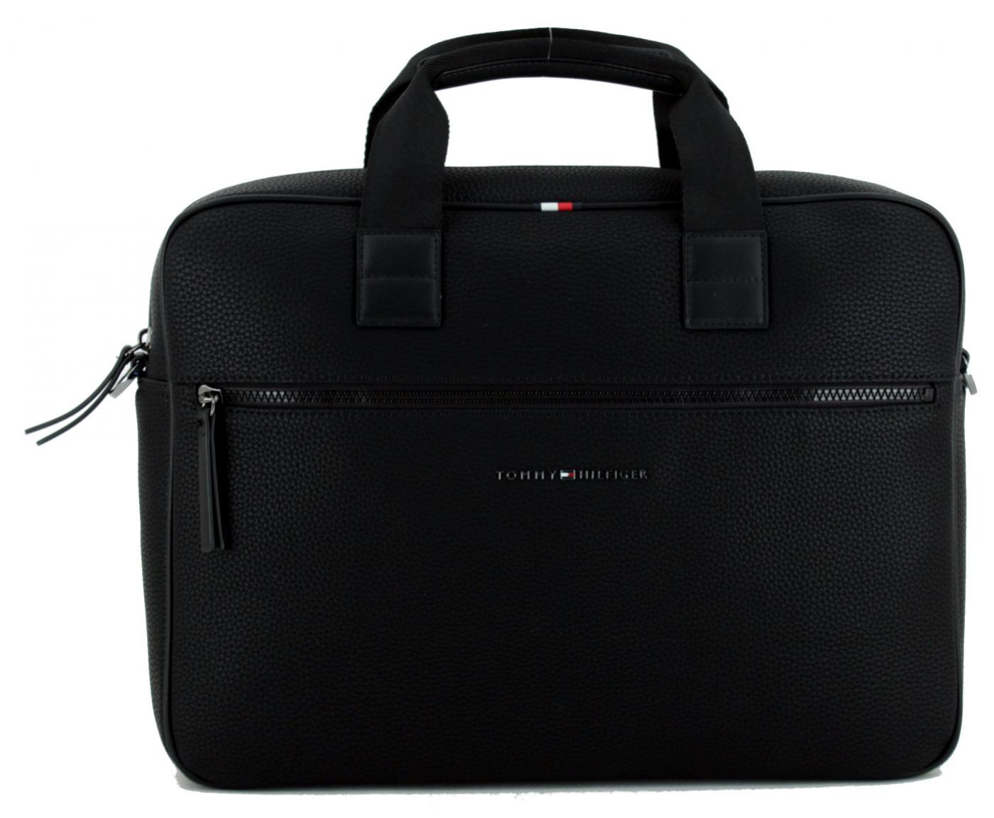 Computer Bag Tommy Hilfiger Laptoptasche Essential Black schwarz Lederimitat