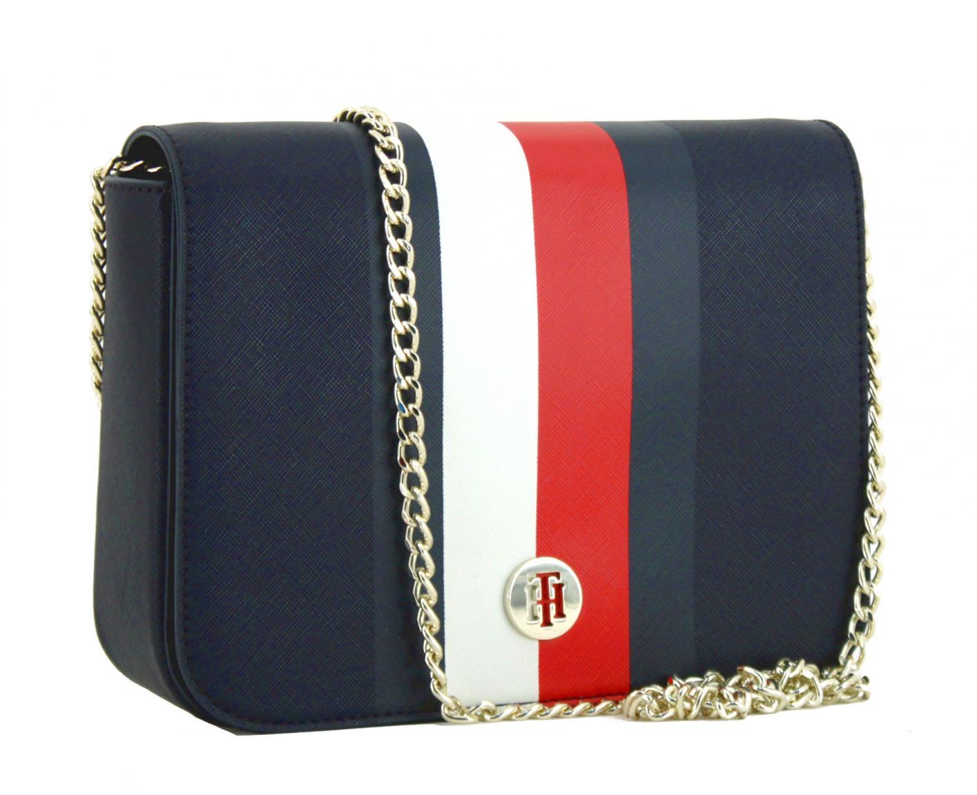 8797186131277 Crossbody Bag Tommy Hilfiger Honey Corporate Stripes blau Kette ...