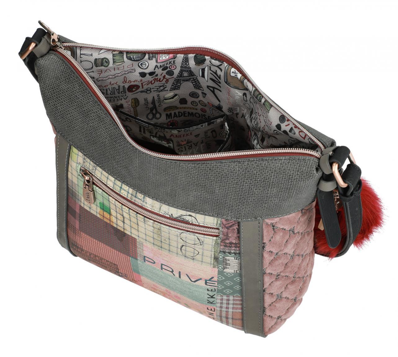 Crossover Bag Anekke India Kamera blau rote Quaste