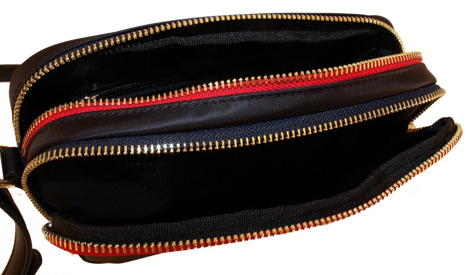 Crossover Poppy Handtasche Hilfiger Tommy Nylon Black Monogram