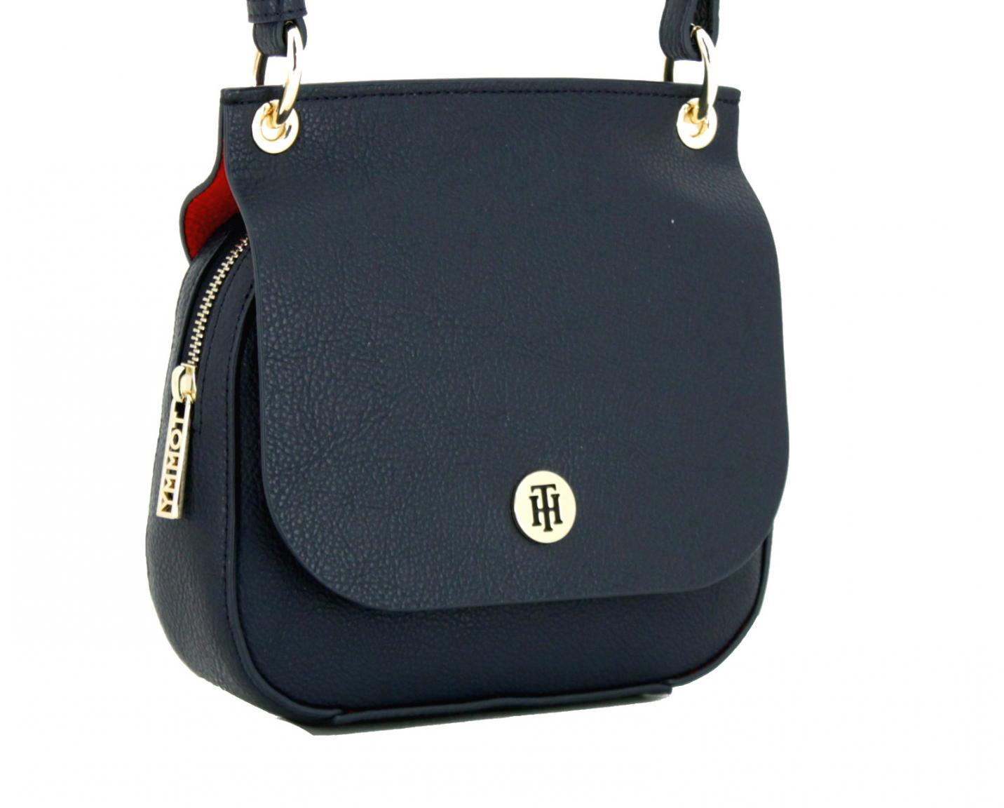 Crossover Tasche Tommy Hilfiger Core Flap dunkelblau Überschlag