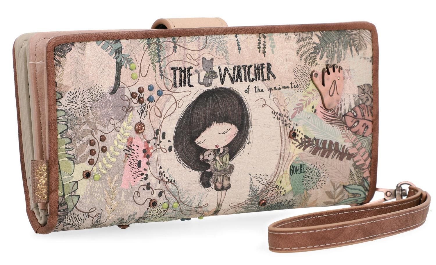 Damenbrieftasche bunt Jungle Watcher Anekke Nieten Stickerei