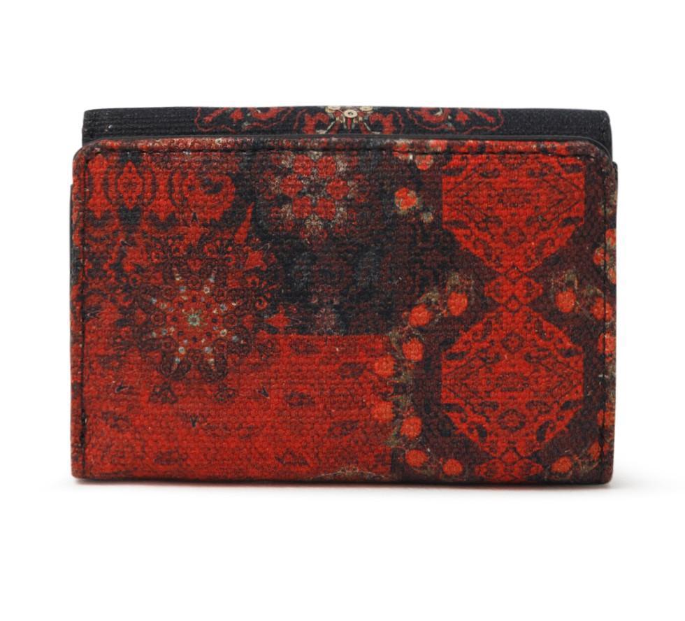 Damengeldbörse Negro Mone Indopatch Diana schwarz rot Desigual