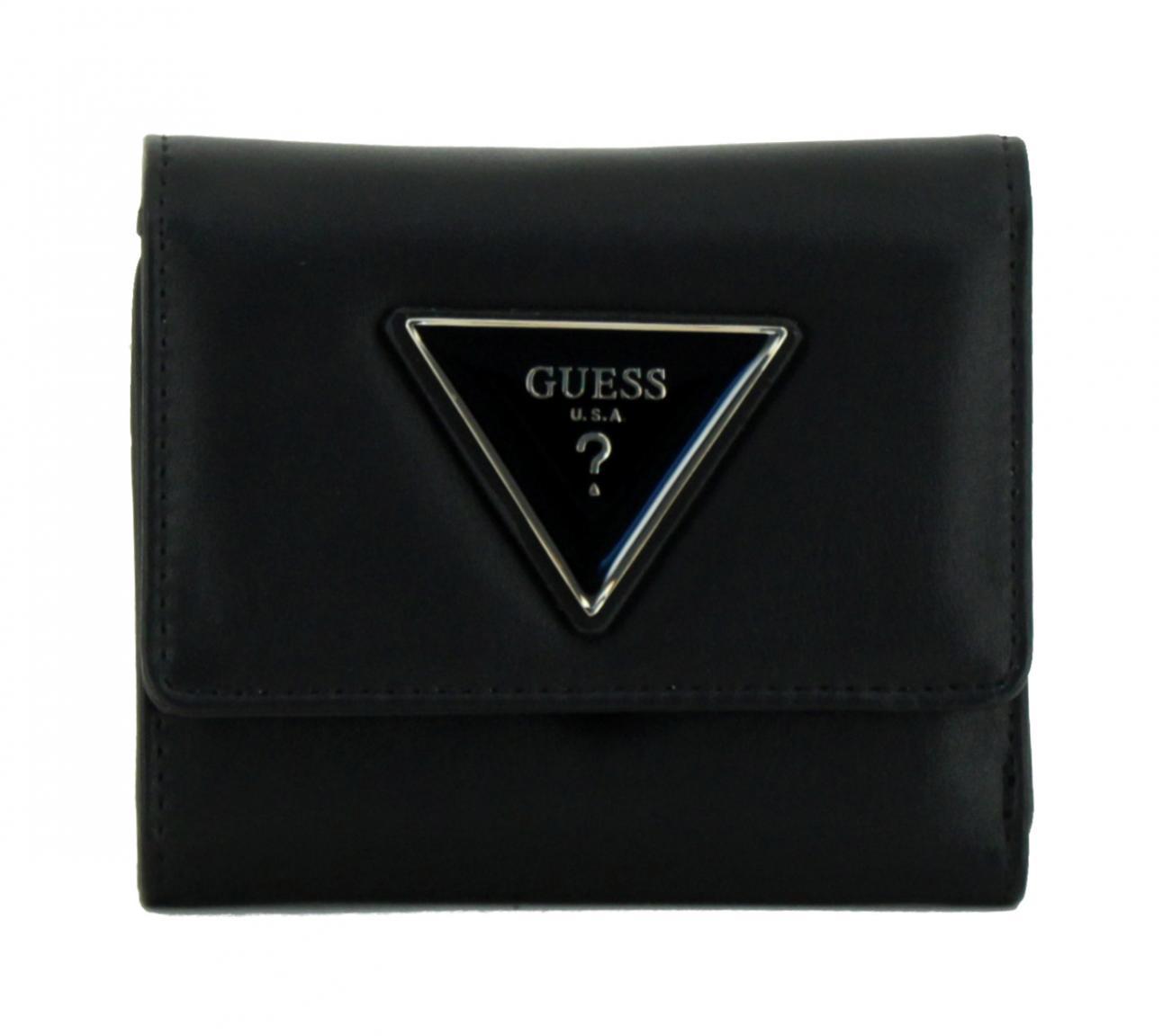 Damengeldtasche Kamryn SLG Black Guess schwarz klappbar