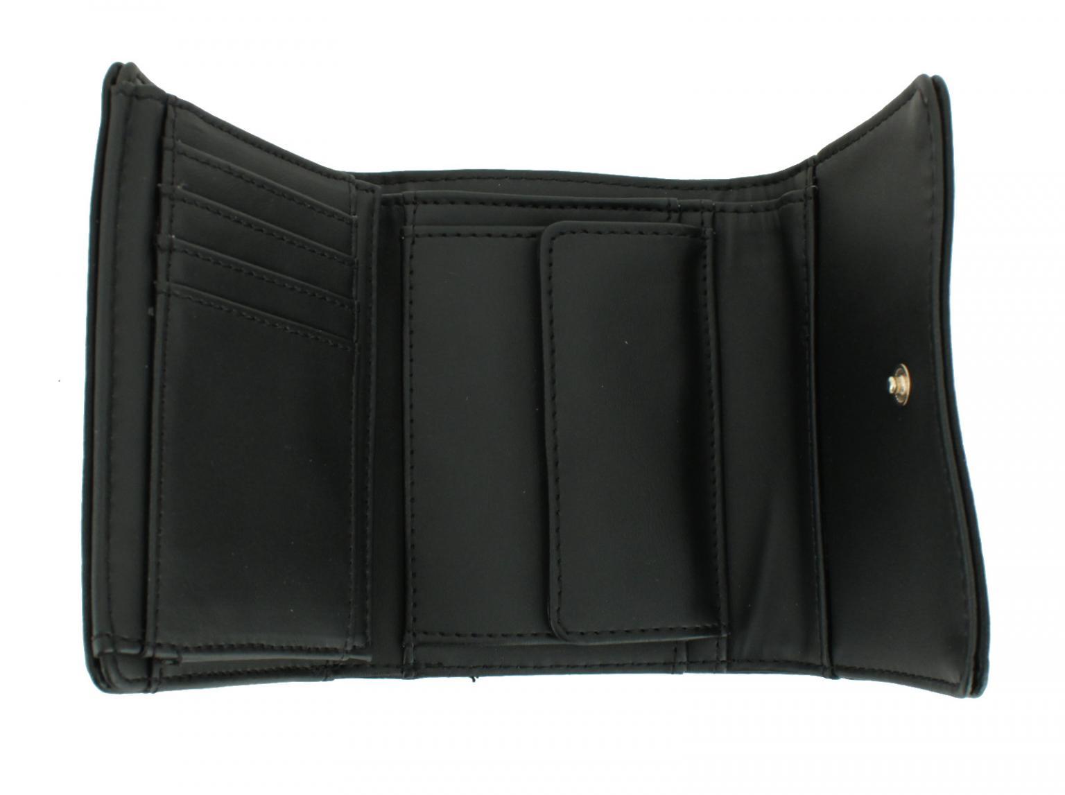 Damenportmonee Guess Dixie Black schwarz Nieten Metallring