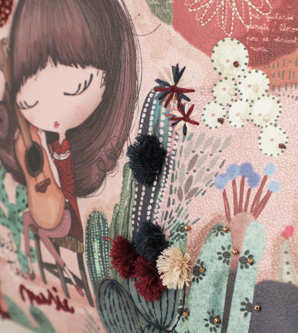 Damenrucksack Anekke Ixchel Mexiko Gitarre Stickerei