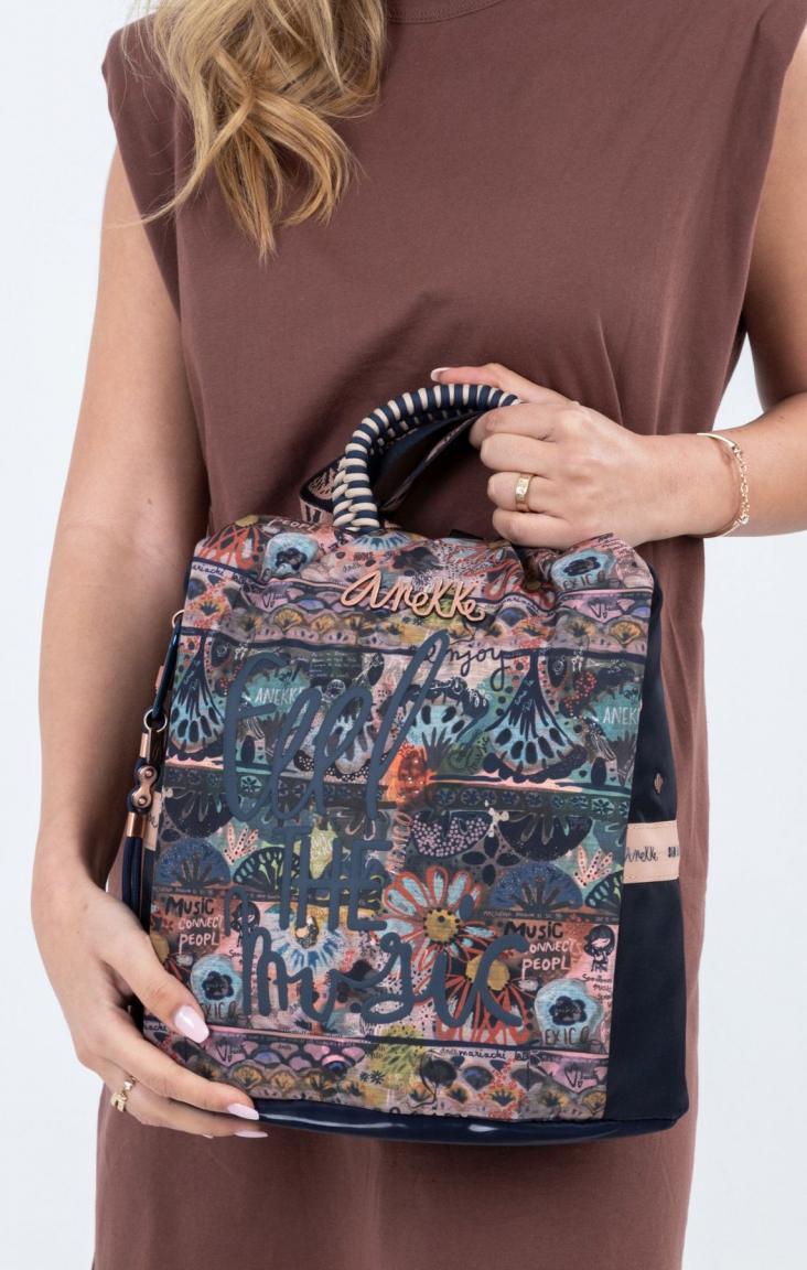 Damenrucksack Anekke Ixchel Nature bunt gemustert recycled Nylon