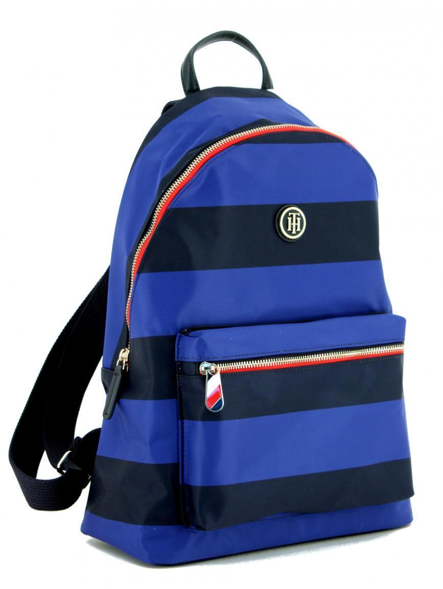 Damenrucksack Tommy Hilfiger Poppy Backpack gestreift blau