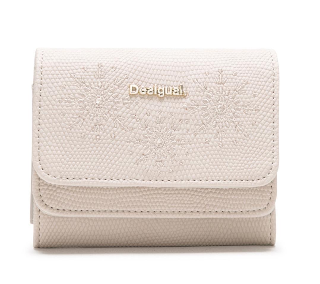 ff2ff54d7a1ca Desigual Damenbörse Mone Caliope Mix beige weiß bestickt - Bags   more