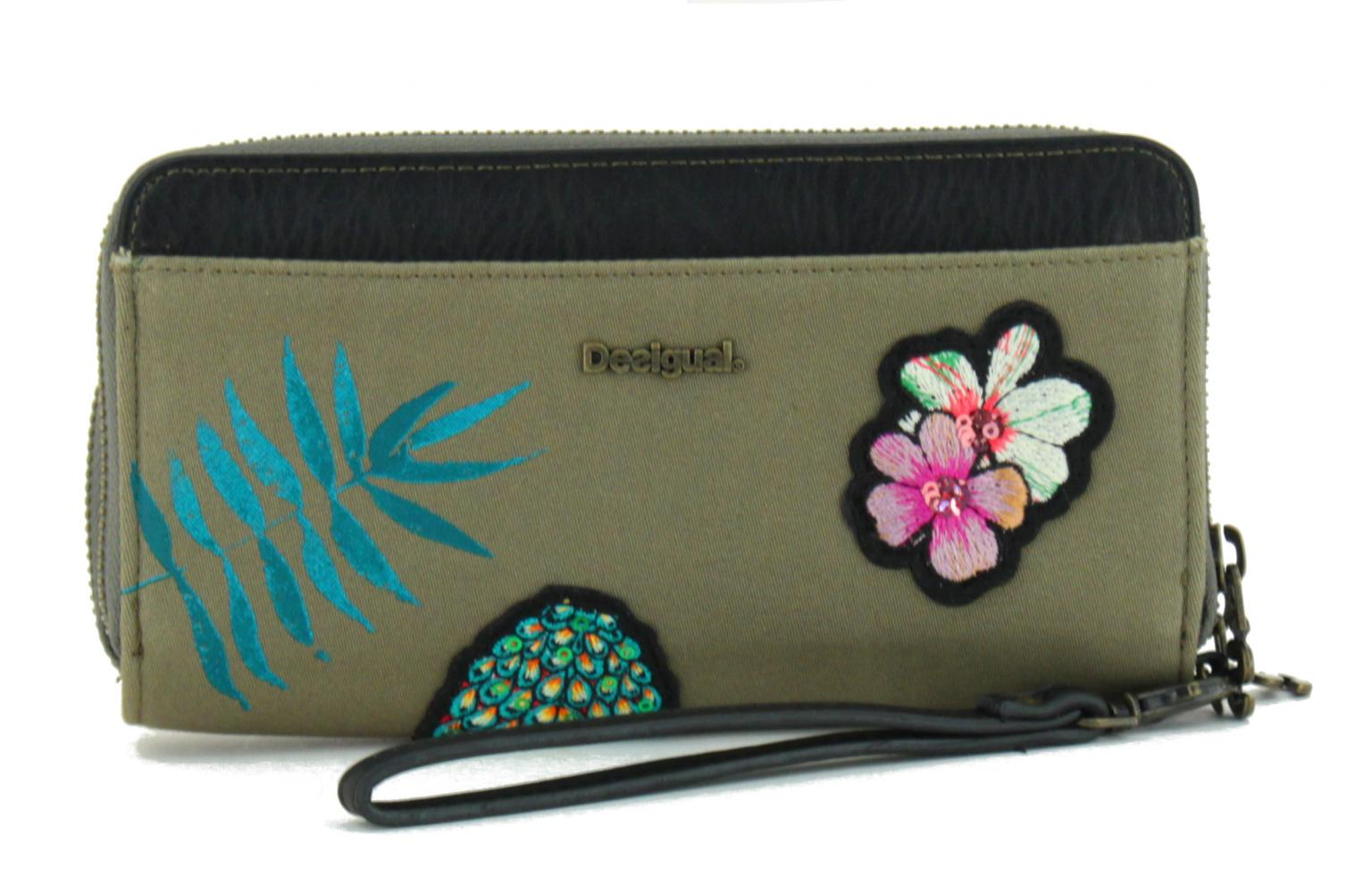 desigual geldbörse two levels pinday ananas blume - bags & more