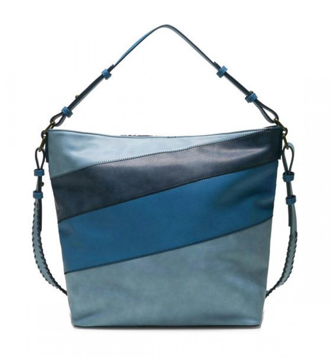 Desigual Beuteltasche Almira Exotic Olesa Stickerei blau