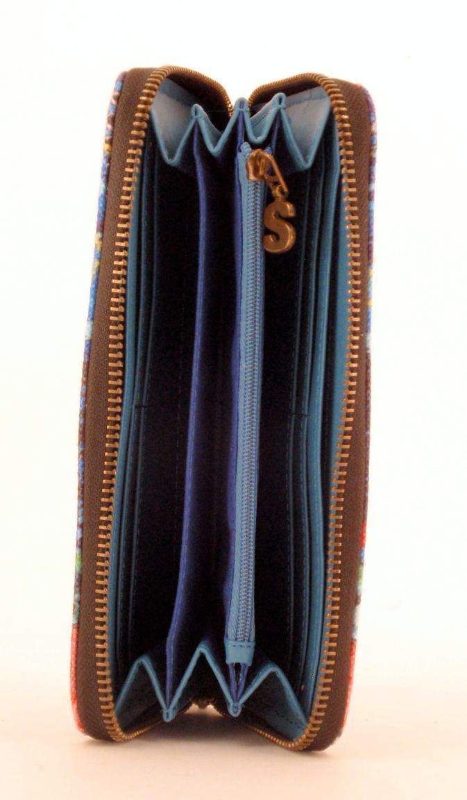 Desigual Damenbörse Zip Around Lazarus Prägung schwarz