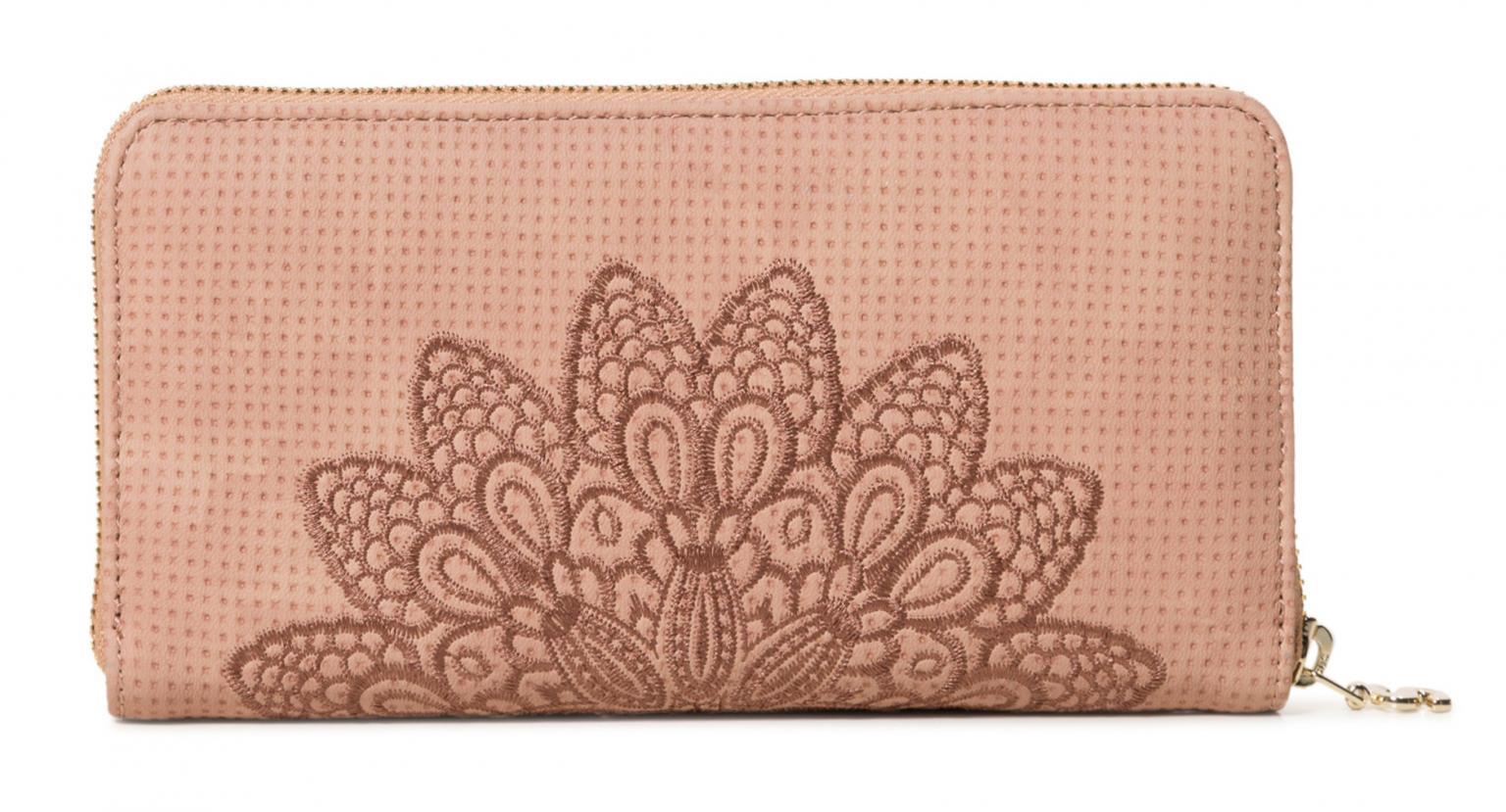 Desigual Geldbörse Fiona Atila bestickt rosa Mandala