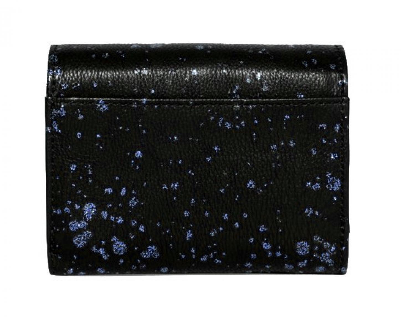 Desigual Geldtasche Mix Metal Splatter Blau glänzend