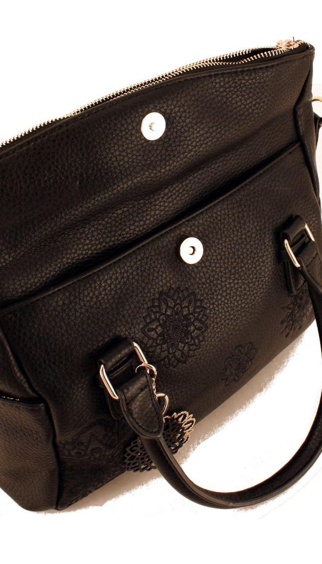 Desigual Kurzgrifftasche Dark Amber Loverty braun Stickerei