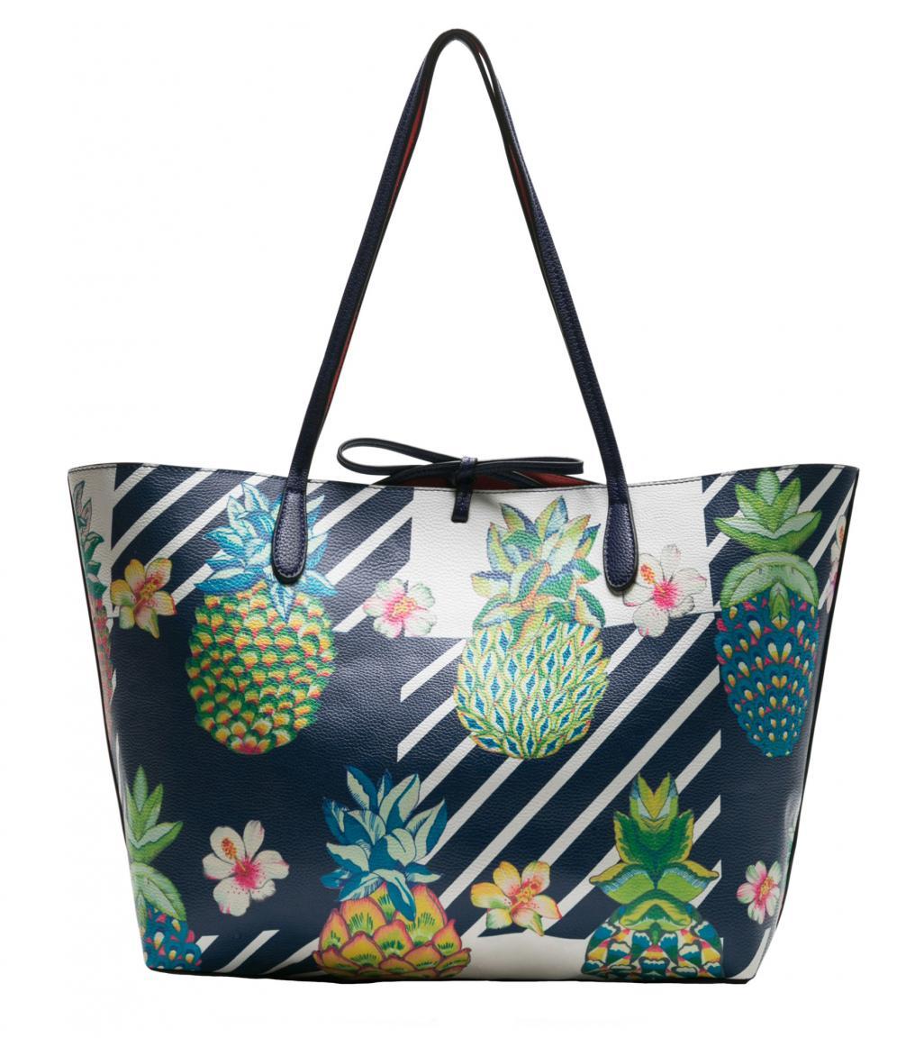 Desigual Reversible Bag Pinacolada Capri Ananas