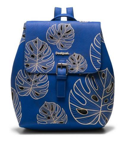 Desigual Rucksack Attalea Toronto gestanzt Blätter blau