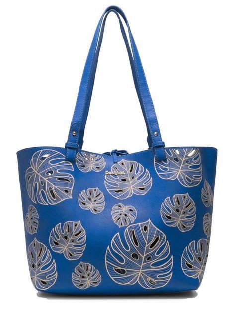 Desigual Shoppertasche Attalea Capri blau Blätter