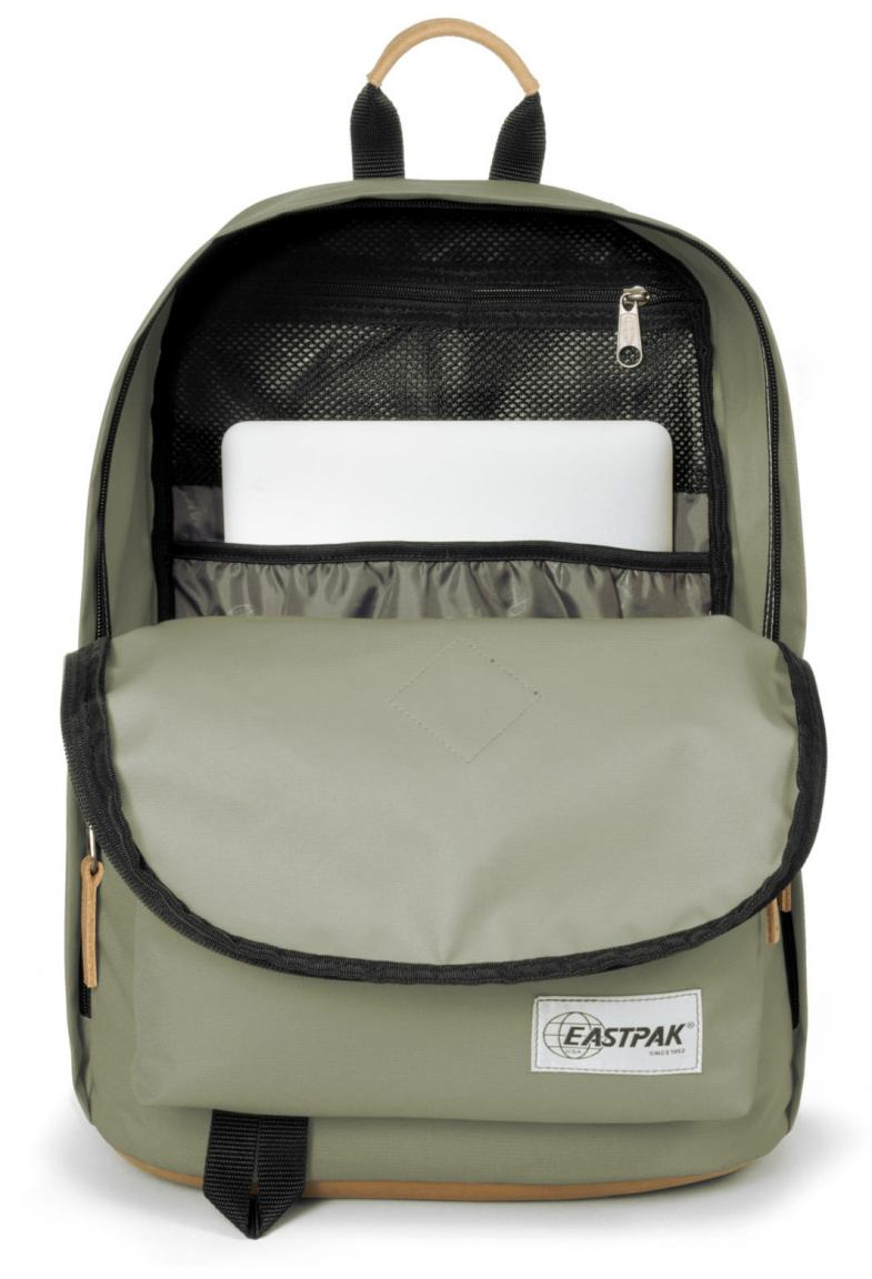 Eastpak Out of Office Rucksack mit Lederboden intogrey sand