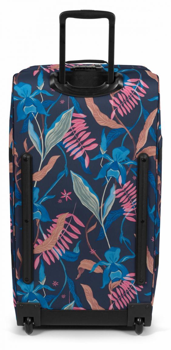 Eastpak Reisetasche Tranverz L Blumen Trolley Blätter blau