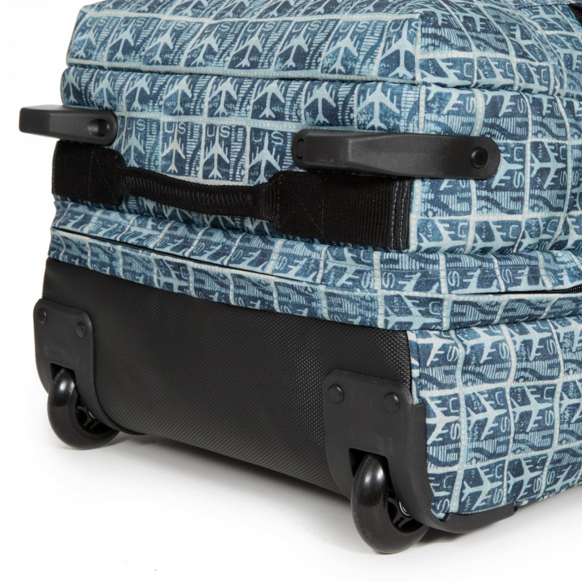 Eastpak Tranverz L Airmail Reisetasche mit Rollen Flugzeuge blau