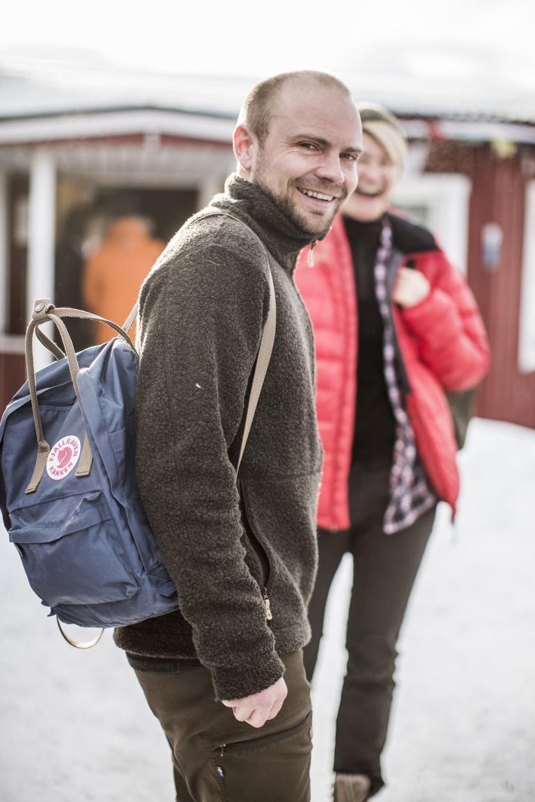 Fjällraven Re-Kanken Rucksack aus recycelten Plastikflachen Grau