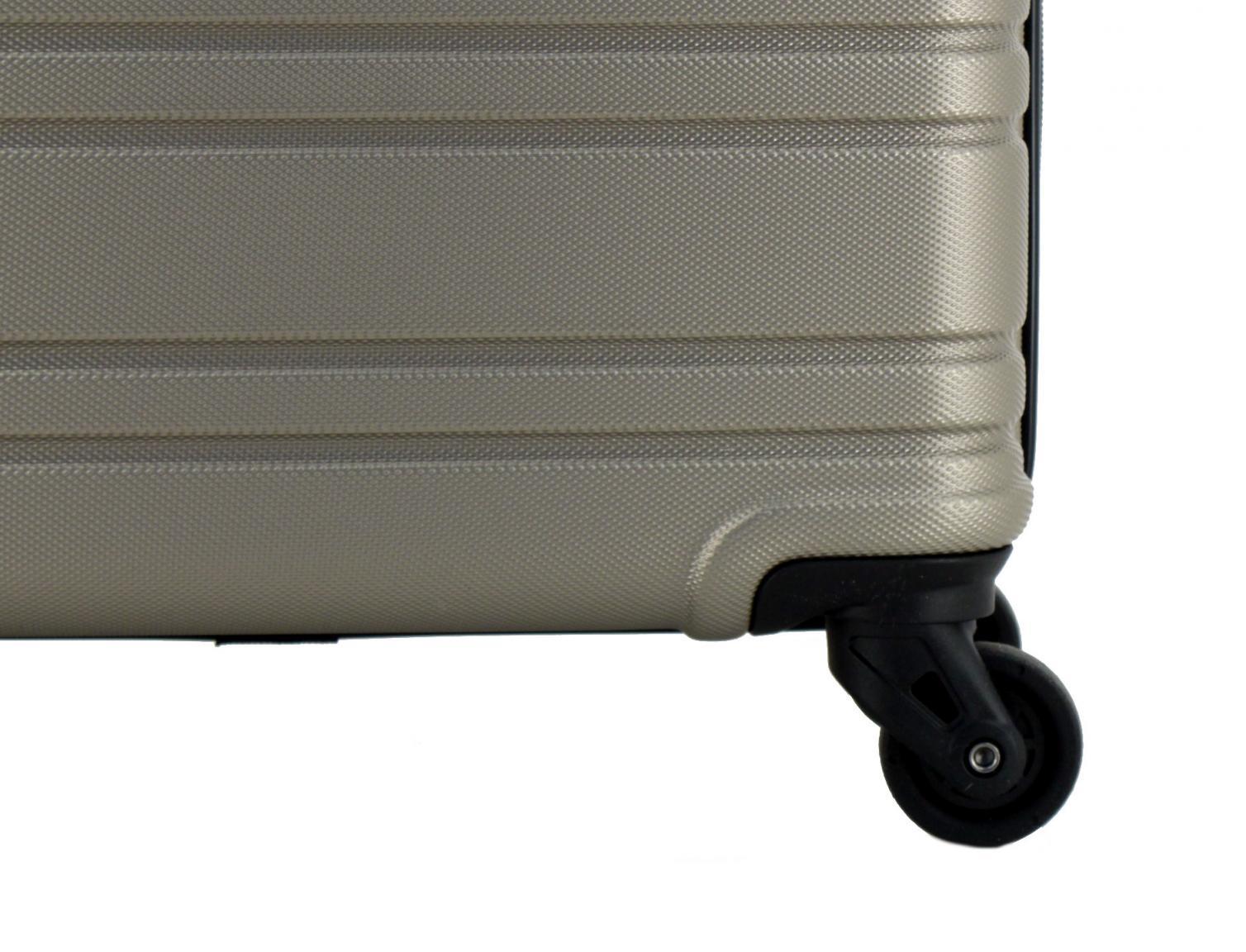 Flugkoffer schwarz Travelite Roadtrip 77cm ABS Hartschale 4-Rad