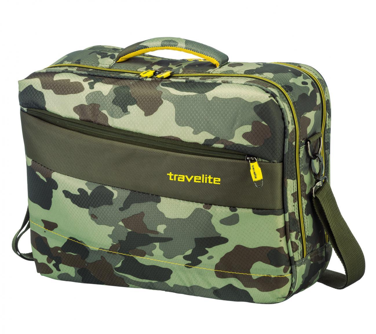 Flugtasche Travelite Kite Camouflage Flecktarn grün