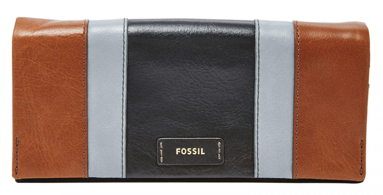 4aa480943bfc1 Fossil Damengeldbörse Ellis PW29 Clutch Leder Schwarz Braun - Bags ...