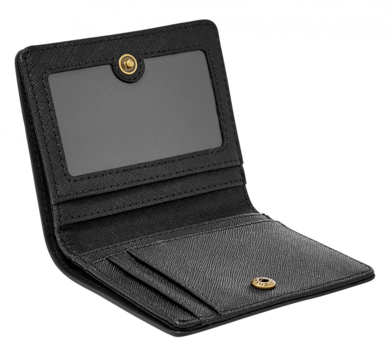 Fossil Geldbörse Emma Mini W RFID Protection Black Schwarz