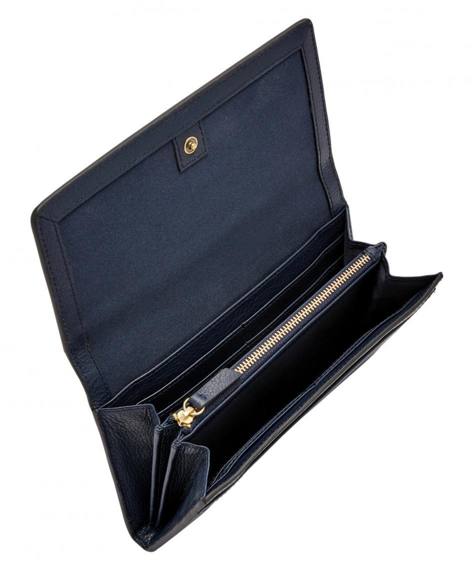 Fossil Geldtasche Überschlag RFID Caroline Midnight Navy Blau