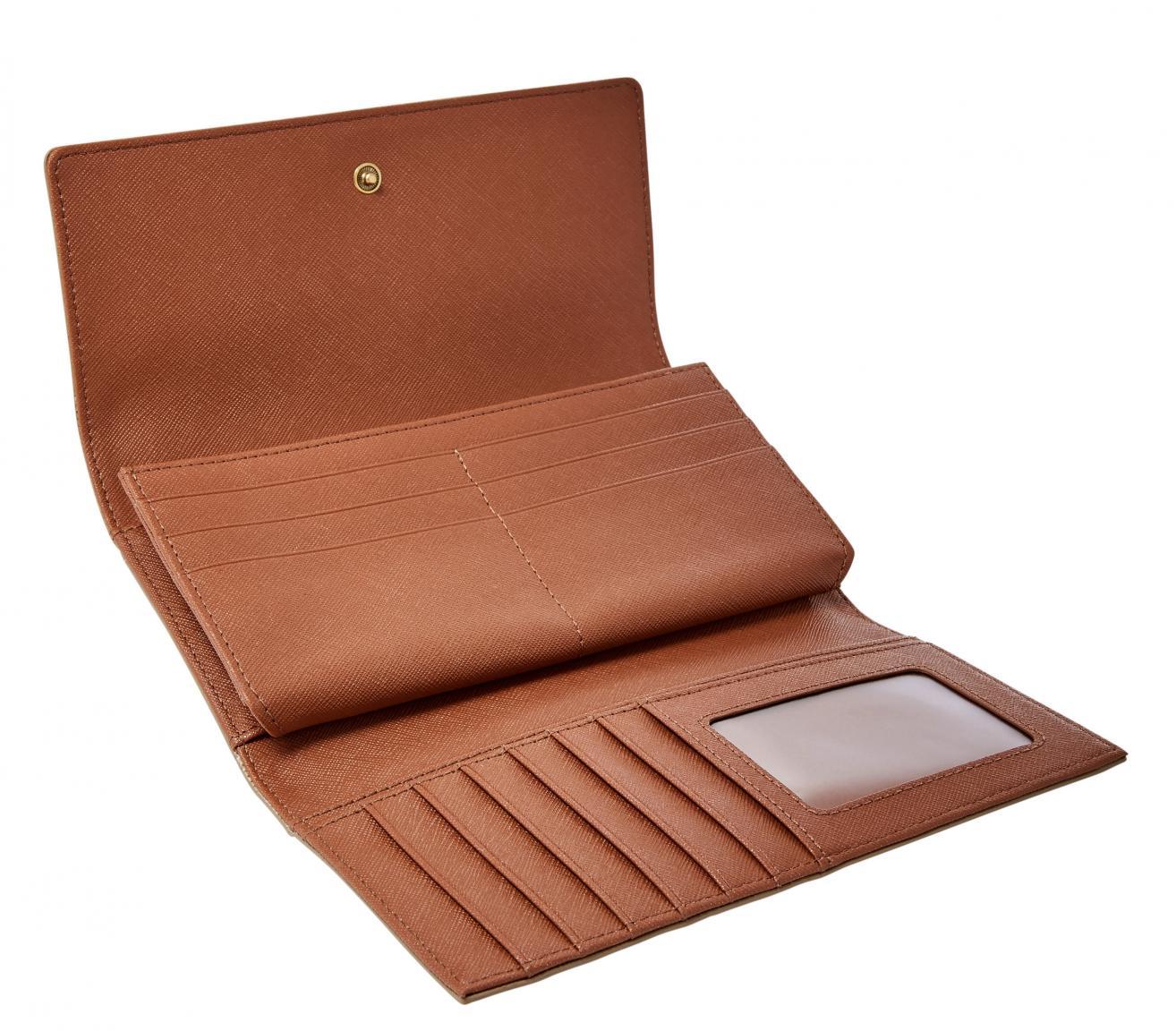 Fossil Überschlagbörse Emma Flap RFID Pale Gold Metallic