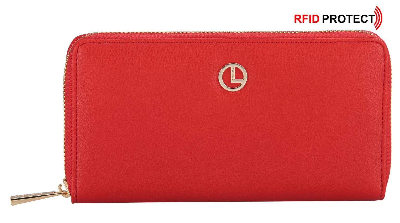 dcee06428cd76 Geldbörse mit RFID-Schutz L.Credi Munich Cassandra rot Damen - Bags ...