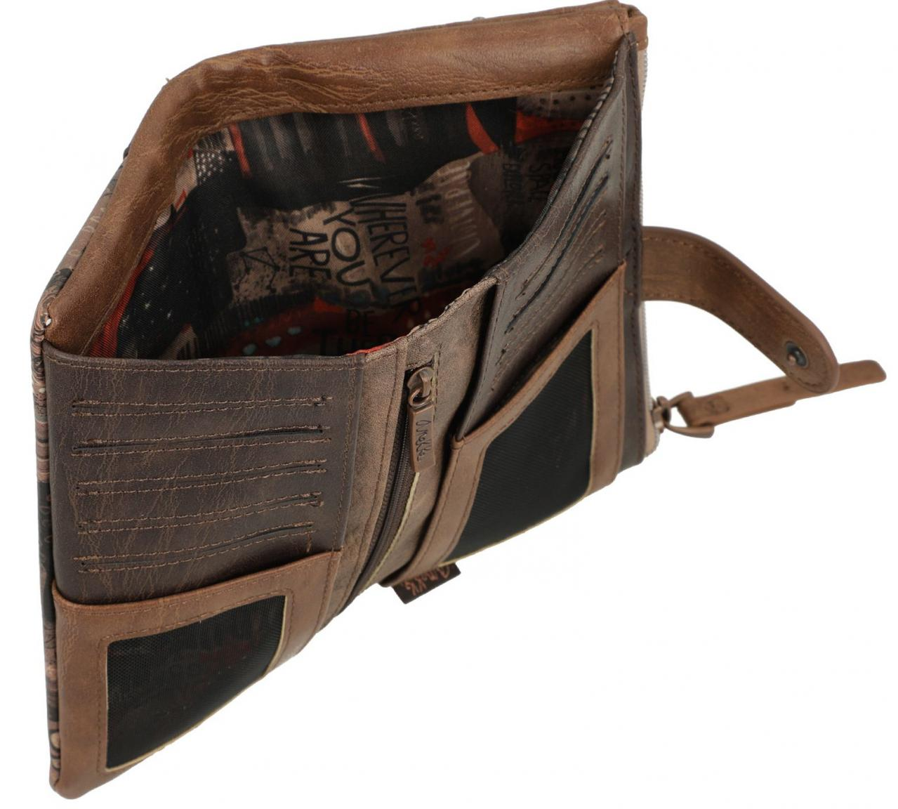 Geldbörse Damen braun Nature Anekke 50% recyceltes Material