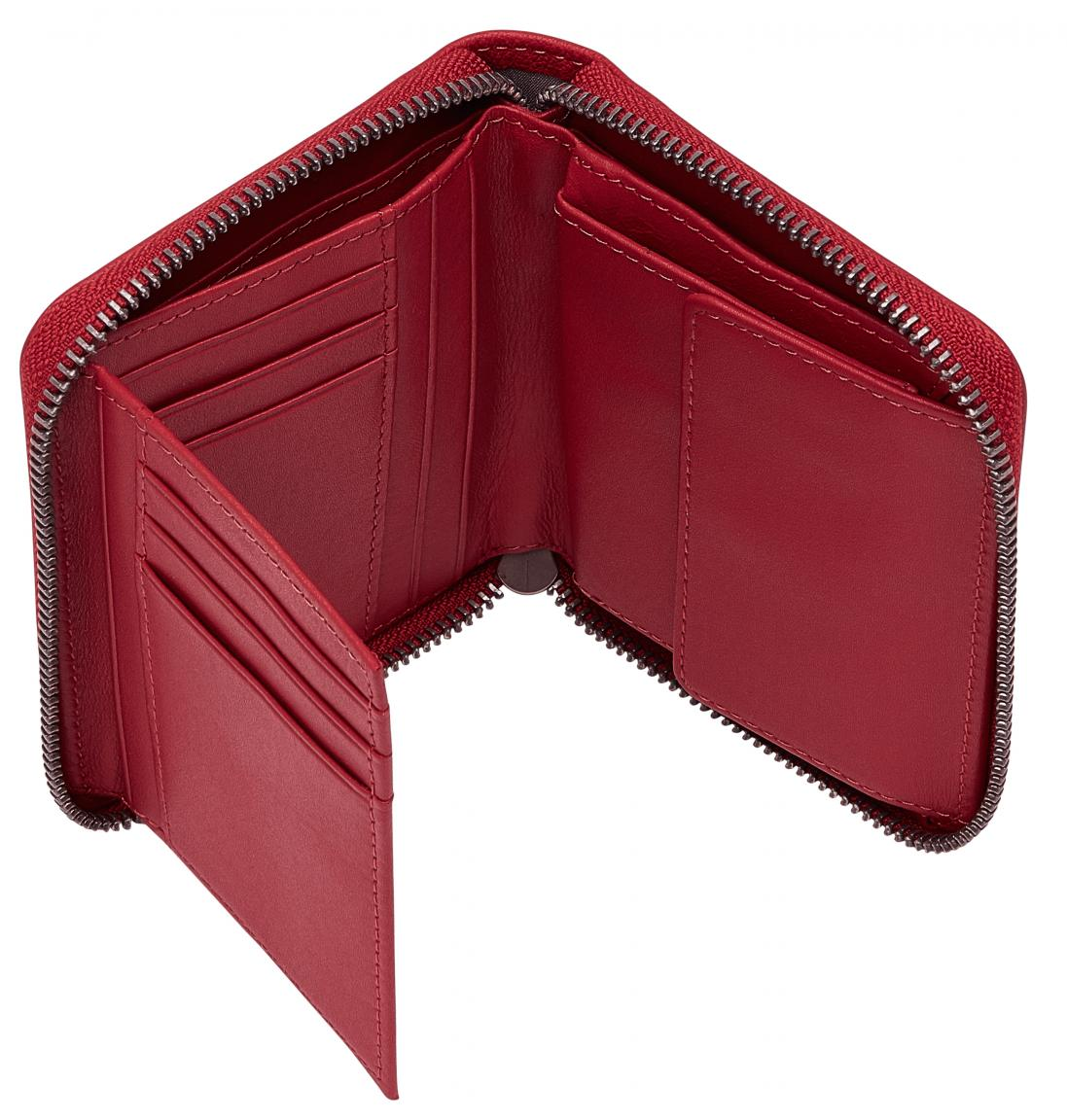 Geldtäschchen Conny Liebeskind Berlin RFID Harris red pepper hellrot Leder Zipper