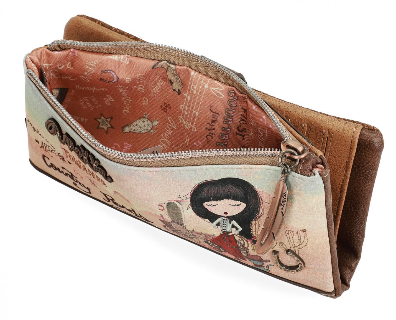 Geldtasche mit Kartenetui braun bunt Anekke Arizona Cowgirl