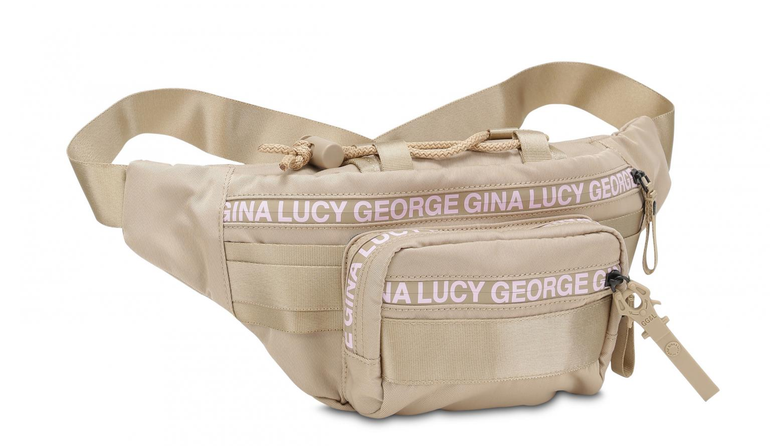 George Gina Lucy Hüfttasche Belly Bean beige rose Nylon Roots So