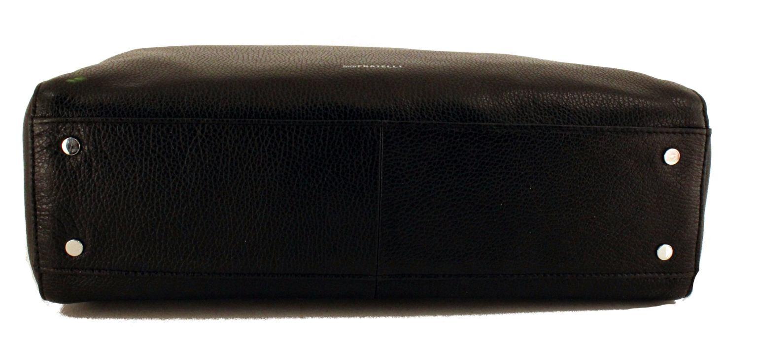 GiGi Fratelli Aktentasche für Frauen Leder Black Schwarz