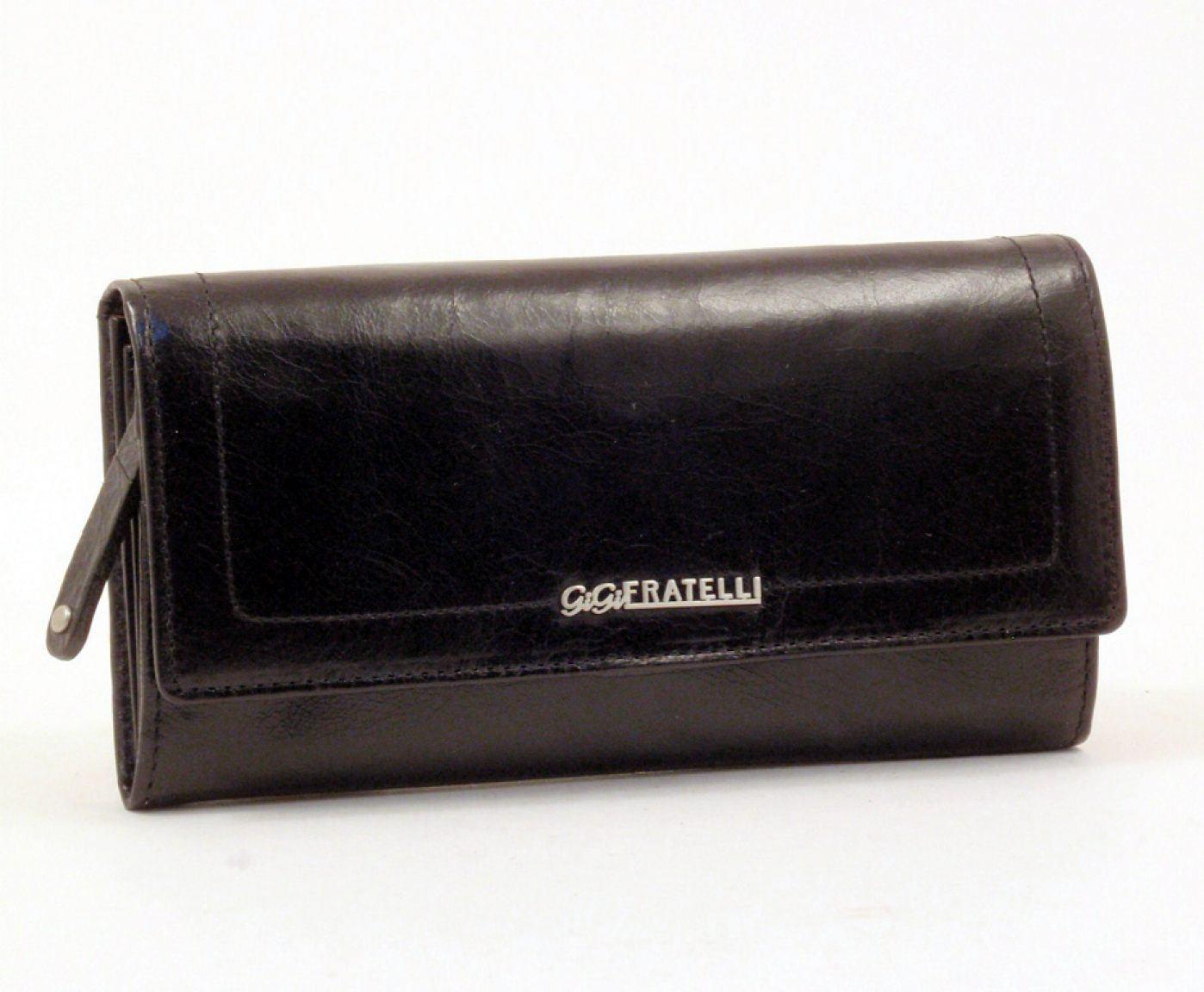 GiGi Fratelli Damengeldbörse Leder schwarz