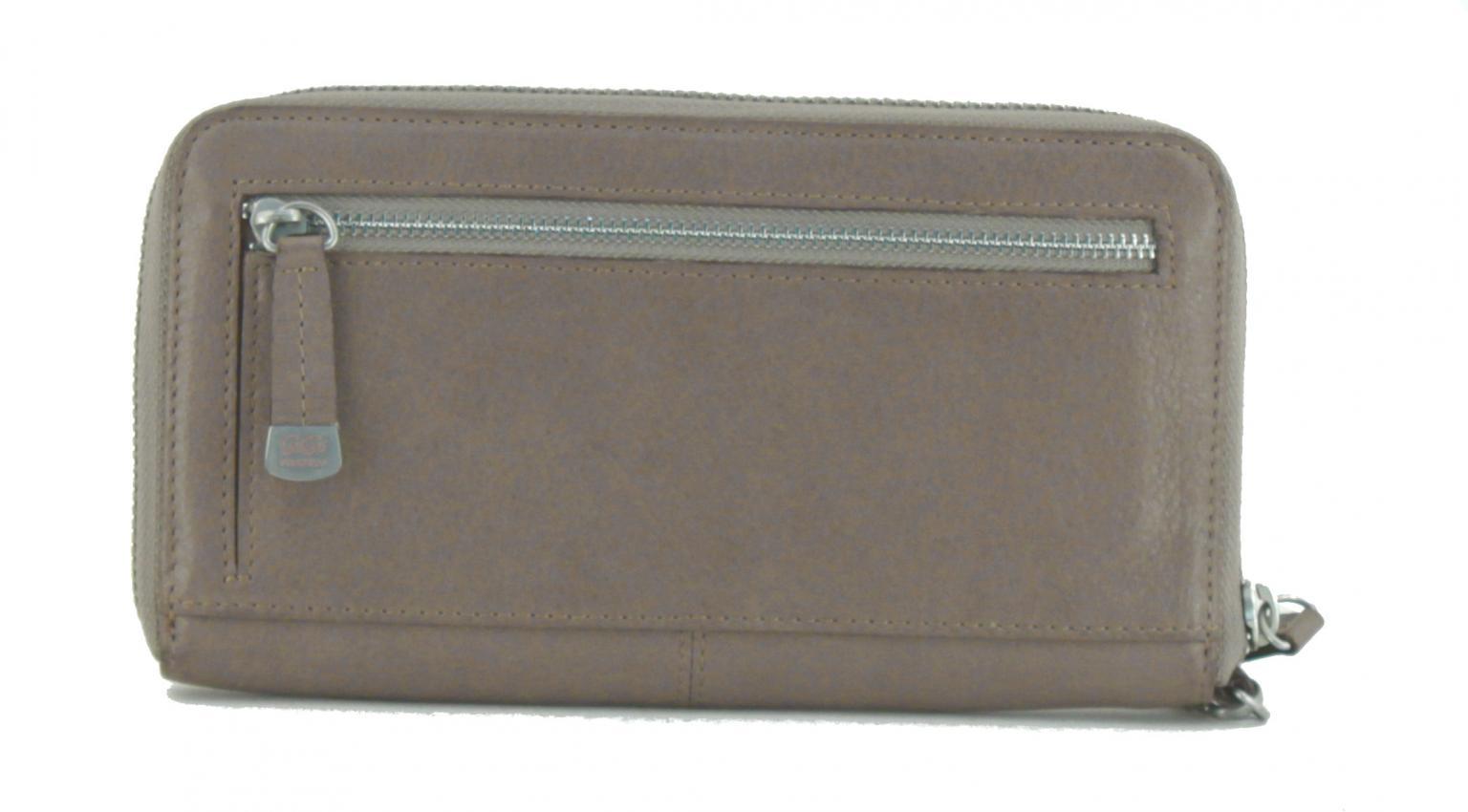 GiGi Fratelli Damenportmonee mit Überschlag taupe grau