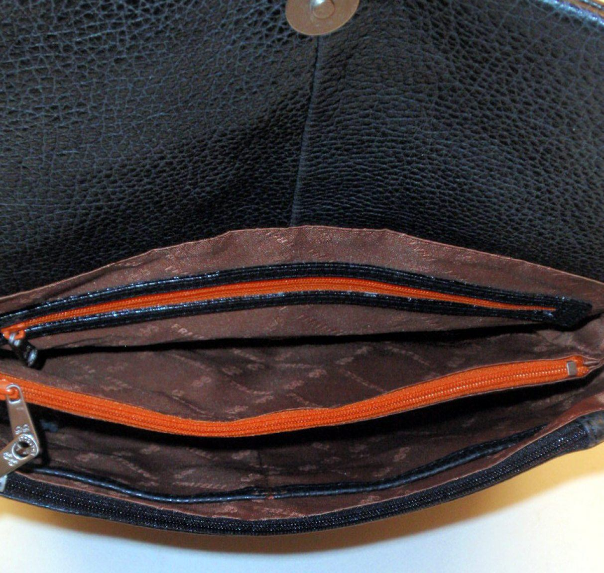 GiGi Fratelli Überschlagtasche Leder noci