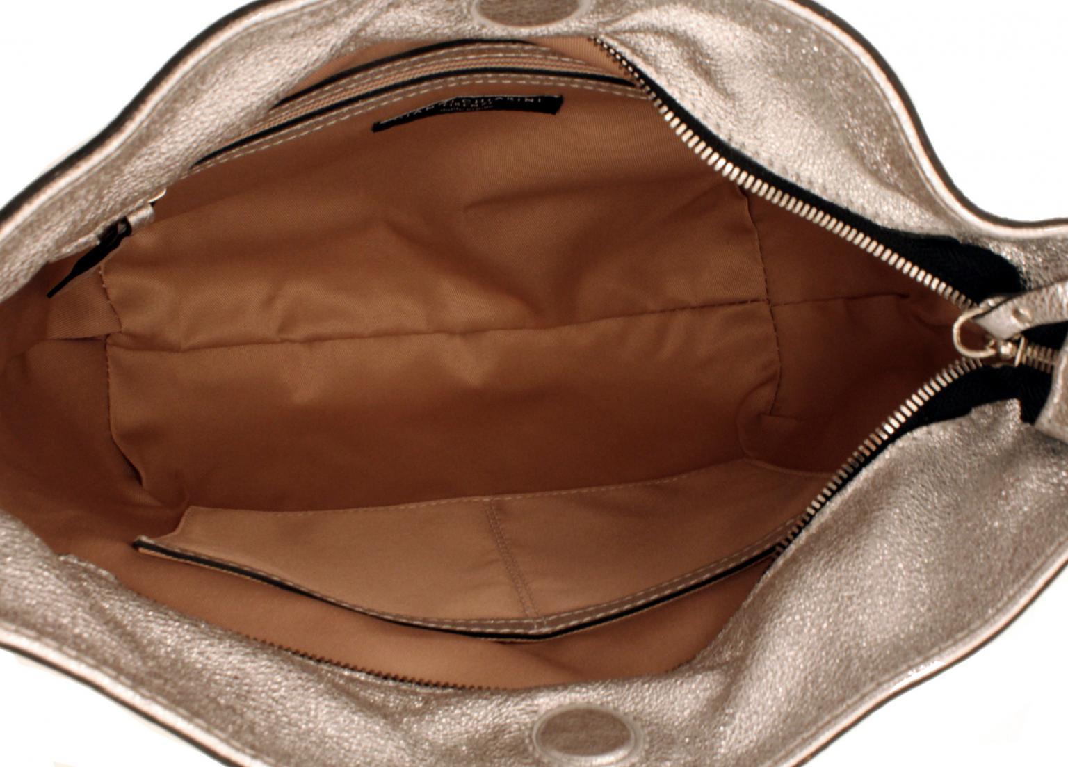 Gianni Chiarini Beuteltasche Zip glänzend gold