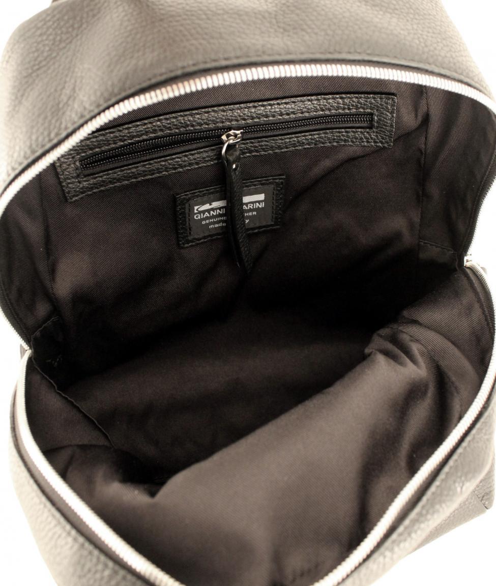 Gianni Chiarini Cityrucksack Leder Zip schwarz Nero