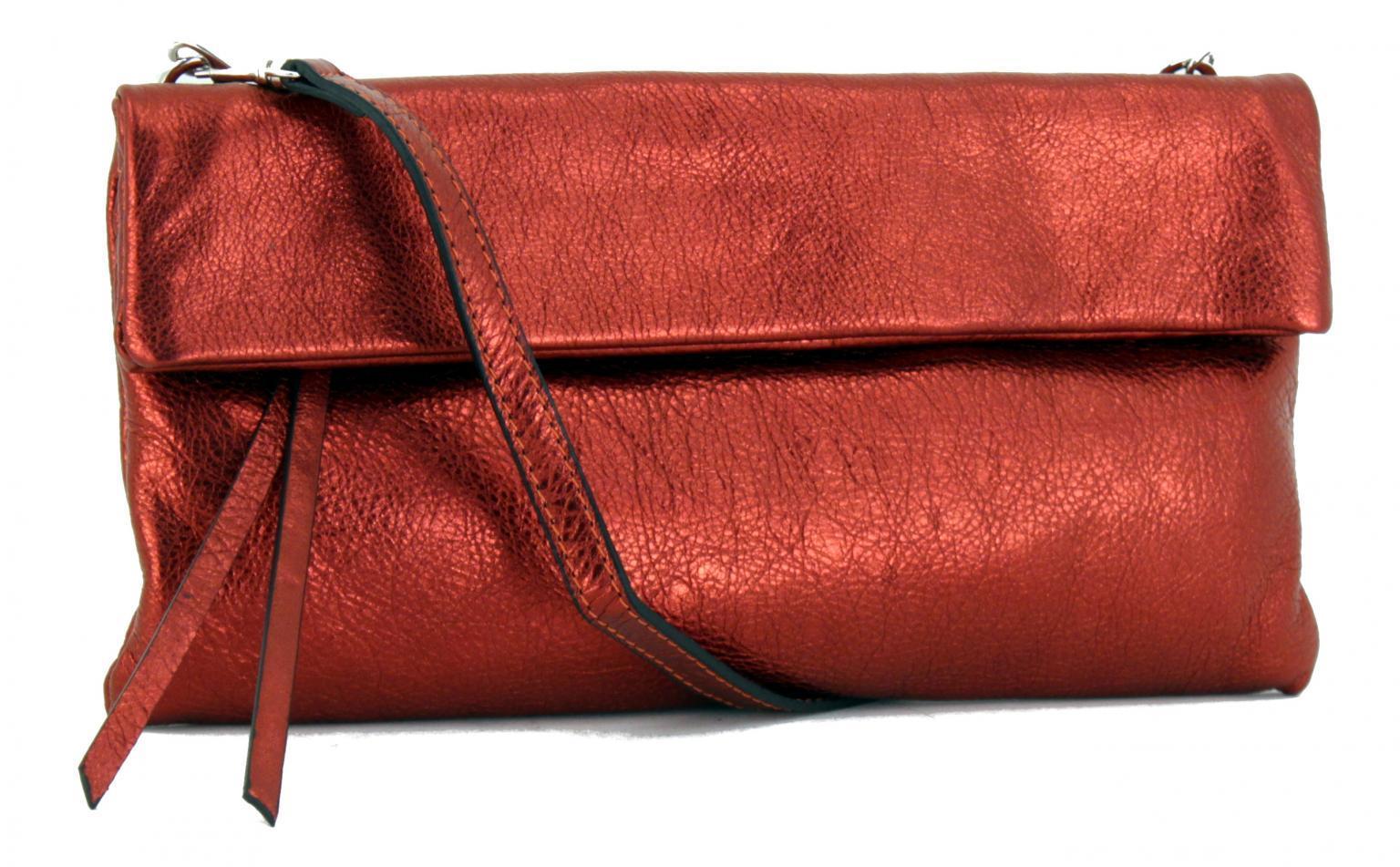 Gianni Chiarini Clutch Cherry Paprika rot metallic glänzend