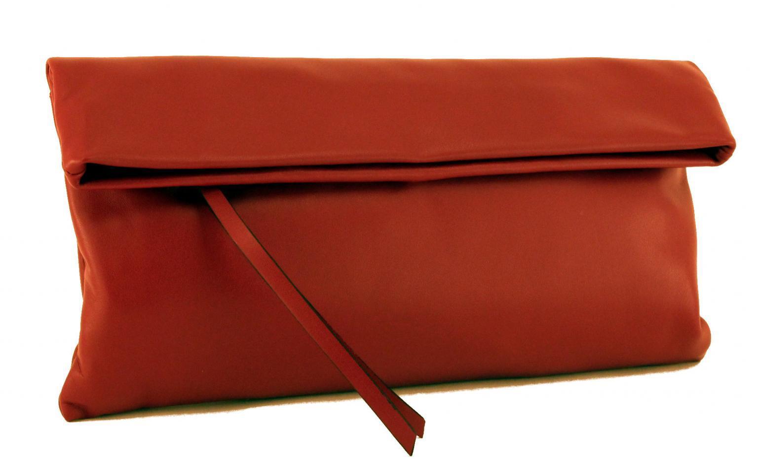 Gianni Chiarini Clutch Large Ledertasche Prezioso Rot
